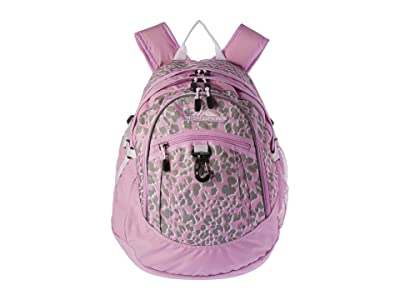 High Sierra Fat Boy Backpack (Shadow Leopard/ Iced Lilac/White) Backpack Bags
