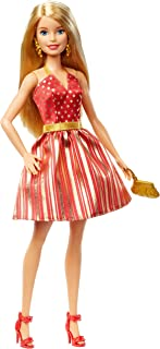 Barbie Holiday RED and Gold Dress GFF68