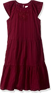 فستان غير رسمي منسوج بأكمام مرفرفة كبيرة للفتيات من جيمبوري
