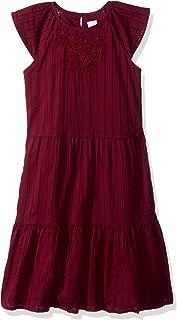 Gymboree Big Girls' Flutter Sleeve Casual Woven Dress