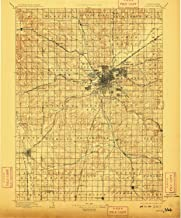 YellowMaps Lincoln NE topo map, 1:125000 Scale, 30 X 30 Minute, Historical, 1897, Updated 1909, 19.8 x 16.4 in