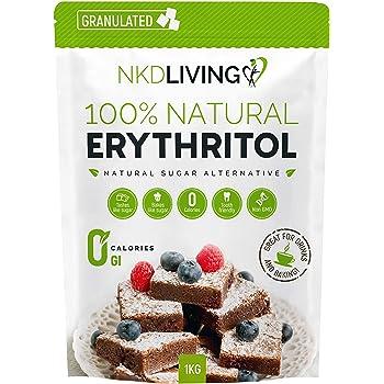 Eritritolo 100% naturale 1 Kg granulato   Sostituto dello zucchero a ZERO Calorie