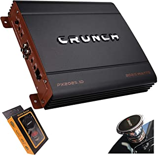 Crunch PX-2025.1D 2000 Watts Power X Mono Subwoofer Car Audio Amplifier, Built-in Bass Control, Bass Remote Included, Elec... photo