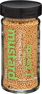 Spicely Organic Mustard Seeds Yellow Whole 2.40 Ounce Jar Certified Gluten Free