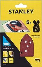 Stanley STA31014-XJ schuurpapier (korrel K180, fijn gekorreld, met klittenband Fix, geschikt voor Black+Decker compacte mu...