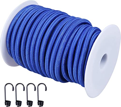 """high quality CARTMAN popular 1/4"""" Elastic Cord Crafting Stretch String, 40kg online x 50ft, with 4 More Hooks, Blue Color online sale"""