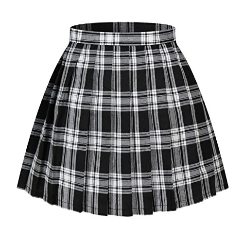 97cd6d01b7 Beautifulfashionlife Women's Japan high Waisted Pleated Cosplay Costumes  Skirts