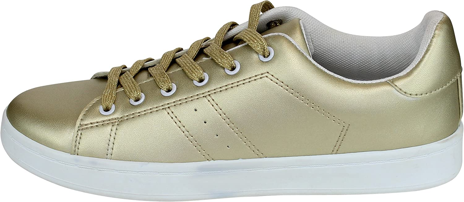 Cambridge Select Women's Closed Round Toe Low Top Lace-up Casual Sport Flatform Fashion Sneaker