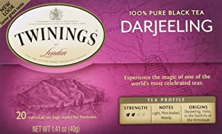 Twinings of London Darjeeling Tea Bags, 20 Count