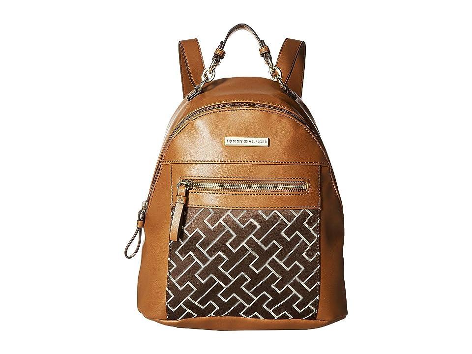 Tommy Hilfiger Claudia Dome Backpack (Dark Chocolate/Ecru) Backpack Bags