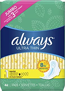 Always Unscented, 46 Count (Pack of 1)