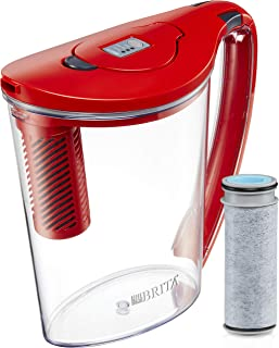 Brita 10060258362395 Stream Filter-As-You-Pour, 10 Cup, BPA Free Hydro Water Pitcher, Chili Red
