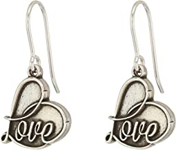 Alex and Ani Love Hook Earrings
