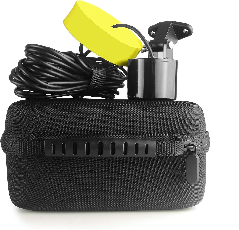Venterior Hard Travel Protective Storage Case for Lucky//Venterior Portable Handheld Fish Finder Kayak Fishing Gear Sonar Transducer Fishfinder Black