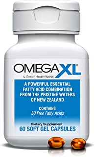 Sponsored Ad - Omega XL 60 Capsules - Green Lipped Mussel New Zealand, Omega 3 Natural Joint Pain Relief & Inflammation Su...