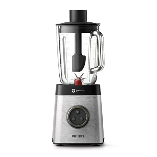 Philips HR3655/00 Blender Avance Collection 1400 W, Bol en Tritan 2,2 litres, 2 gourdes, Technologie ProBlend 3Dc