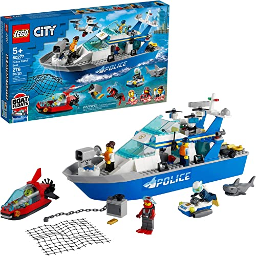2021 LEGO City Police Patrol Boat 60277 Building Kit; Cool Police Toy for Kids, New 2021 high quality (276 new arrival Pieces) outlet sale