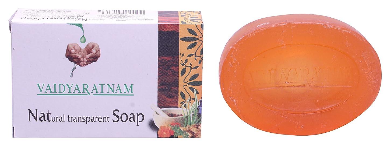 累積未払いメールVaidyaratnam Natural Transparent Soap Best For Skin Smother and Fairer