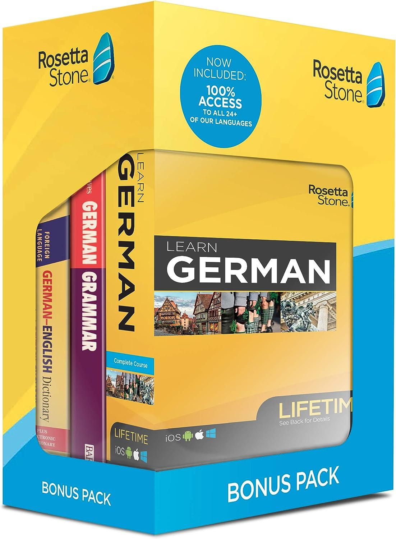 Rosetta Sale Stone Learn German Bonus Lifetime Overseas parallel import regular item Bundle Online Pack Ac
