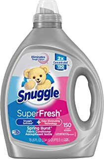 Sponsored Ad - Snuggle Liquid Fabric Softener, SuperFresh Spring Burst, Eliminates Tough Odors, 150 Loads