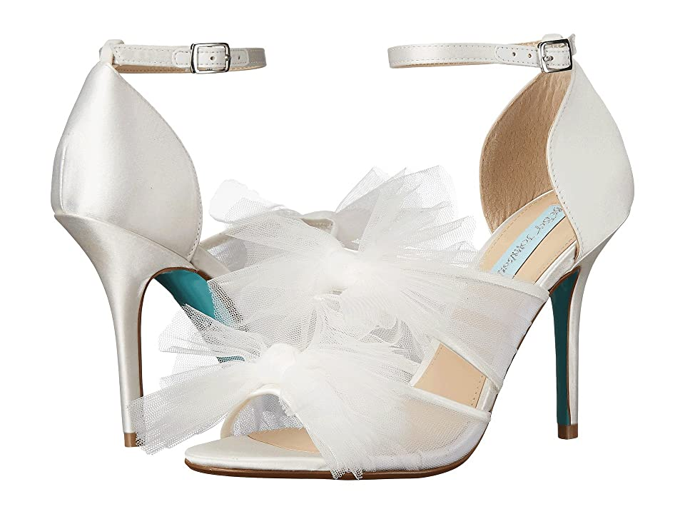 Blue by Betsey Johnson Big (Ivory Satin) High Heels