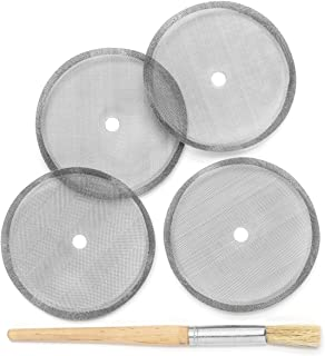 Replacement French Press Filter Set - 4 Stainless Steel Filters & Brush - Fits Sunlit and Most 34 oz Models
