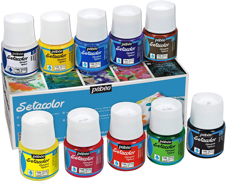 PEBEO PE294000 Discovery Fabric Paint Pkg-Setacolor 45ml Recommendation Direct sale of manufacturer 10 Set
