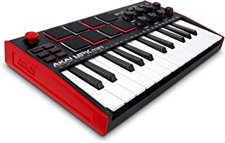 AKAI Professional MPK Mini MK3 | 25 Key USB MIDI Keyboard Controller With 8 Backlit Drum Pads, 8 Knobs and Music Productio...