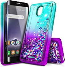 NZND Case for Alcatel TCL A1 (4G LTE, A501DL) / Alcatel Insight (5005R) with Tempered Glass Screen Protector (Full Coverag...