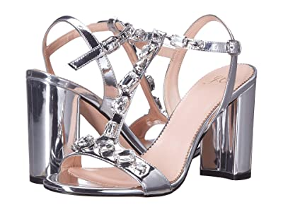 J.Crew Metallic Jeweled Strap Stella Sandal (Silver Mirror) Women
