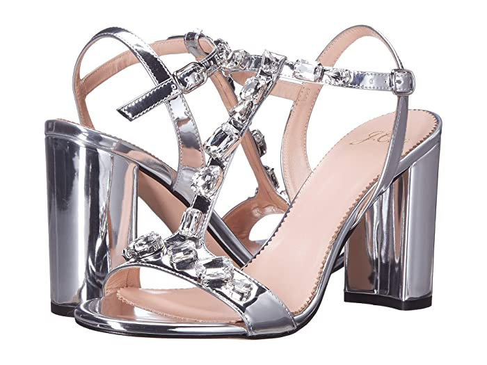 Metallic Jeweled Strap Stella Sandal by J.Crew