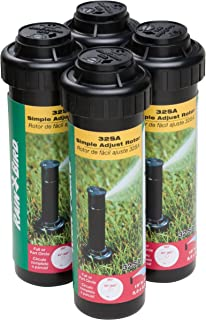 Rain Bird 32SA/4PKS Simple Adjust 32SA Gear Drive Rotor, Adjustable 40° - 360° Pattern, 19' - 32' Spray Distance, 4-Pack. (Renewed)