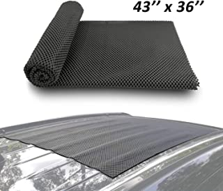 Depp's Car Roof Mat Cargo Pad Protective Mat Rack Pad (43''x36'') Cushioned Layer Non-Slip Heavy Duty Elastic Soft for Car SUV Truck Cargo Bags Bikes Paddle