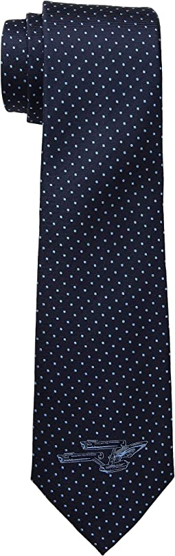 Enterprise Dot Blue Tie