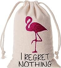 10pcs Wedding Party Favor Bags 4x6 inch Flamingo Bachelorette Party Bags,