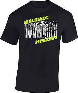 T-Shirt: Waldweg Heizer - Fahrrad Geschenke für Damen & Herren - Radfahrer - Mountain-Bike - MTB - BMX - Biker - Rennrad - Tour - Outdoor - Downhill - Dirt - Freeride - Trail - Cross