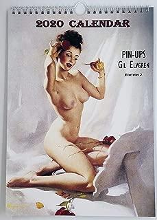 Gil Elvgren Wall Calendar 2020 Pin Up Glam Sexy Girl Retro Vintage A4 Edit 2