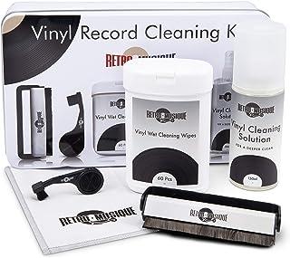 Vinyl Schallplatten Reinigung   Set Bestehend Aus Kohlefaserbürste, Stylus Pinsel, Tiefenreinigungsspray und Mikrofastertüchern   Für Besten Klang Und Pflege Ihrer Kostbaren Musiksammlung