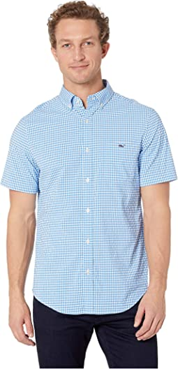 Blanchard Gingham Performance Short Sleeve Tucker Shirt