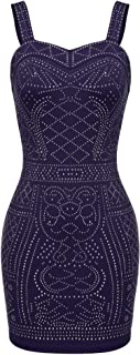 Women's Sequin Embellished Clubwear Bandage Bodycon Party Dress