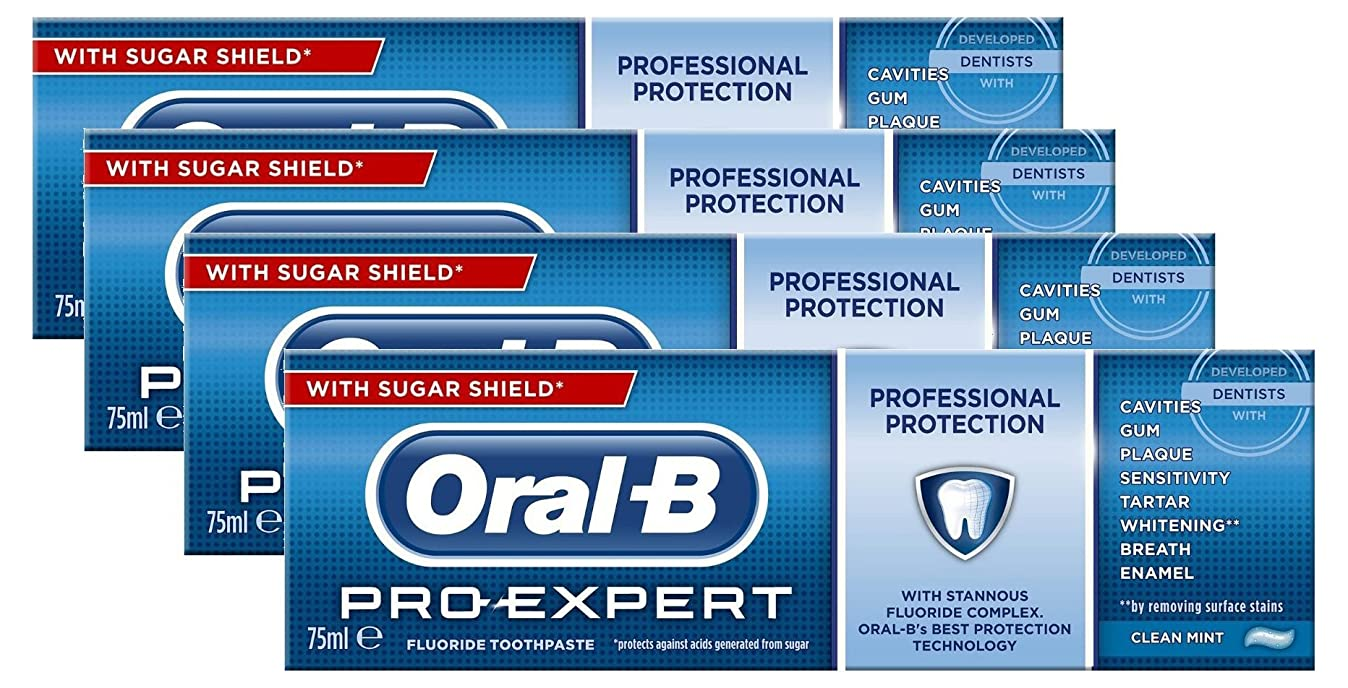 子供時代効率的前奏曲Oral-B Toothpaste Pro-Expert All Around Protect 75ml Case of 4 by Oral-B