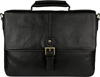 "Hidesign Men's Charles Leather 15"" Laptop Compatible Briefcase Work Bag"