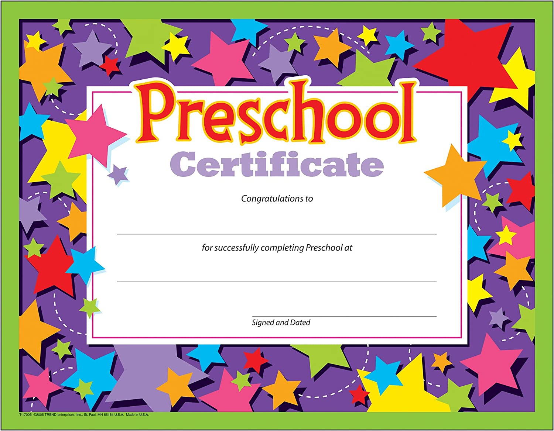 Preschool Certificates (Pack of 21) In Preschool Graduation Certificate Template Free