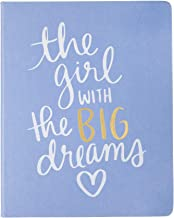 """Eccolo Dayna Lee Collection Light Blue""""Girl with Big Dreams"""" 8x10"""" Hardcover Journal/Notebook, Acid-Free Lined Pages"""