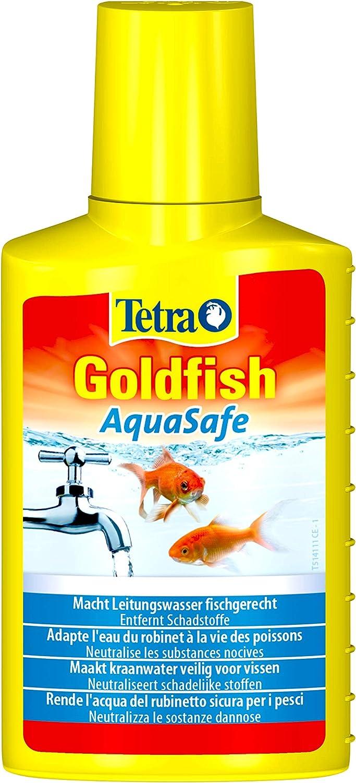 Tetra Condizionatore d Goldfish AquaSafe, Rende l'acqua del Rubinetto sicura per i Pesci, 100 ml