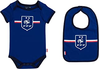 / Collection officielle Equipe de France de Football FFF France Football Team Bib Baby Boys Bodysuit/