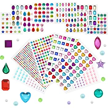2 x Sparkly Pastel Gems x 576 Pack Craft Sparkly Stickers Self Adhesive Crafts