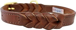 Leather Braided Dog Collar, 16