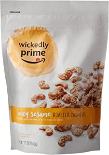 Wickedly Prime Roasted Cashews, Honey Sesame, 12 Ounce