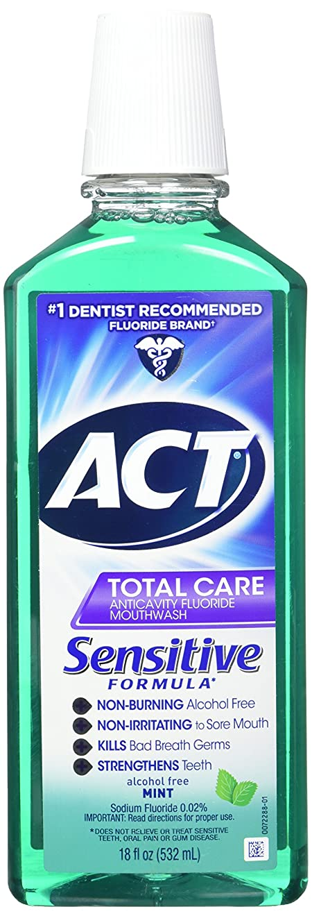 環境保護主義者可愛い皮ACT 敏感なケアミント18Flo(3パック) 3パック